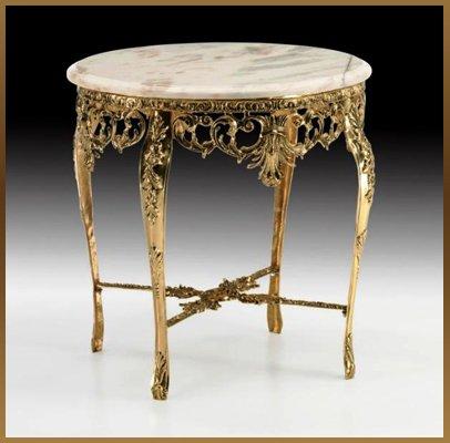 Virtus столик из бронзы кожаный ремень завязывается купить